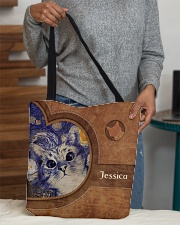 Starry Night Cat Leather Pattern Print All-over Tote aos-all-over-tote-lifestyle-front-10