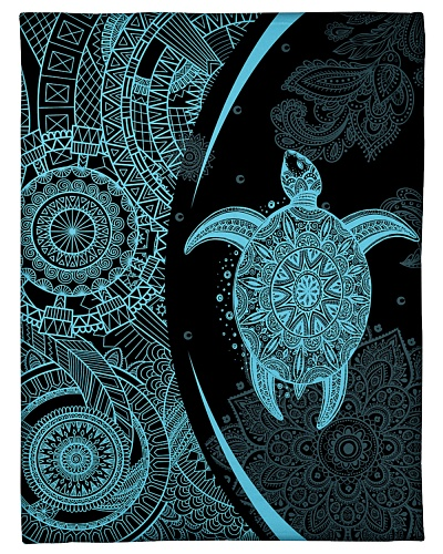 Ocean Turtle Blue Blanket