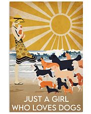 Dog Just A Girl 16x24 Poster front