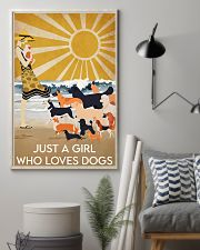 Dog Just A Girl 16x24 Poster lifestyle-poster-1