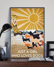 Dog Just A Girl 16x24 Poster lifestyle-poster-2
