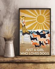 Dog Just A Girl 16x24 Poster lifestyle-poster-3