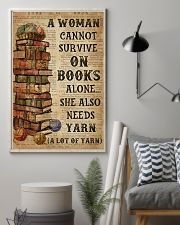 Books Alone She Also Needs Yarn 16x24 Poster lifestyle-poster-1