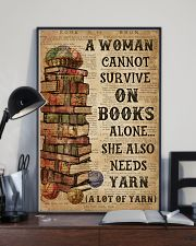 Books Alone She Also Needs Yarn 16x24 Poster lifestyle-poster-2