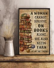 Books Alone She Also Needs Yarn 16x24 Poster lifestyle-poster-3