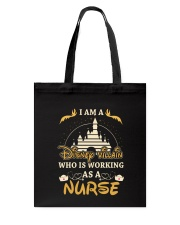 Who is working as a nurse Tote Bag tile