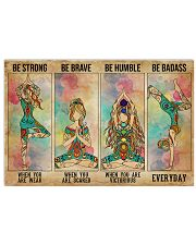 Yoga Be Strong Be Brave 36x24 Poster front
