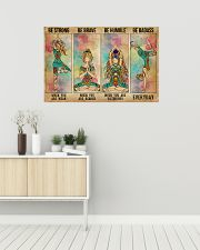 Yoga Be Strong Be Brave 36x24 Poster poster-landscape-36x24-lifestyle-01