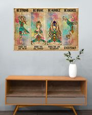 Yoga Be Strong Be Brave 36x24 Poster poster-landscape-36x24-lifestyle-21