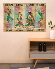 Yoga Be Strong Be Brave 36x24 Poster poster-landscape-36x24-lifestyle-22