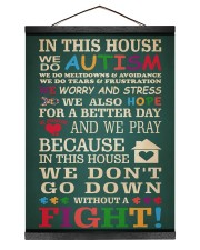 Autism In This House 12x16 Black Hanging Canvas thumbnail