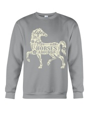 Life is better with horses around Crewneck Sweatshirt thumbnail