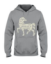 Life is better with horses around Hooded Sweatshirt thumbnail