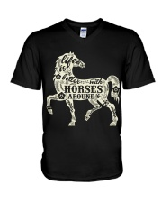 Life is better with horses around V-Neck T-Shirt thumbnail