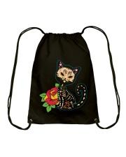 Cat Day of the Dead Drawstring Bag thumbnail