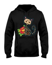 Cat Day of the Dead Hooded Sweatshirt thumbnail