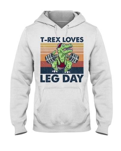 Fitness T-rex Loves Leg Day