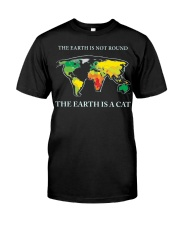 The earth is a cat Classic T-Shirt tile