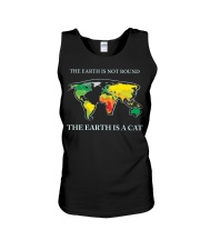 The earth is a cat Unisex Tank tile