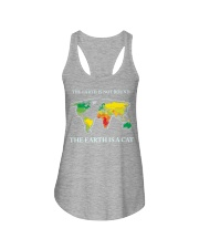 The earth is a cat Ladies Flowy Tank tile