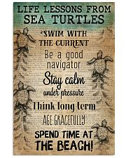 Ocean Life Lessons From Sea Turtles 16x24 Poster front