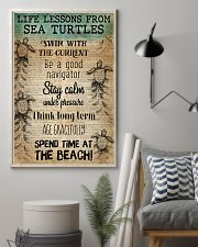 Ocean Life Lessons From Sea Turtles 16x24 Poster lifestyle-poster-1