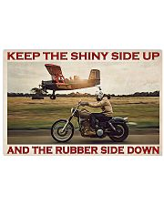 Biker Keep The Shiny Side Up 36x24 Poster front