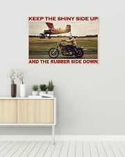 Biker Keep The Shiny Side Up 36x24 Poster poster-landscape-36x24-lifestyle-01