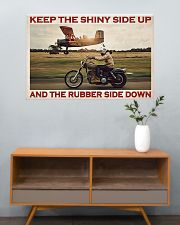 Biker Keep The Shiny Side Up 36x24 Poster poster-landscape-36x24-lifestyle-21