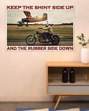 Biker Keep The Shiny Side Up 36x24 Poster poster-landscape-36x24-lifestyle-22