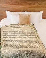 "Book Chapter 34 Large Fleece Blanket - 60"" x 80"" aos-coral-fleece-blanket-60x80-lifestyle-front-02"