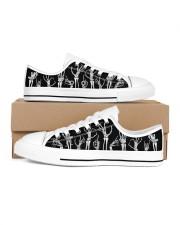 Skeleton Men's Low Top White Shoes inside-left-outside-left