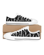 Skeleton Women's Low Top White Shoes thumbnail