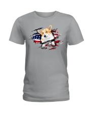 Corgi Flag Ladies T-Shirt thumbnail