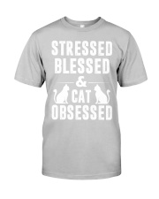 cat obsessed Classic T-Shirt tile