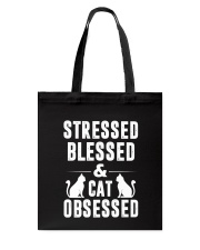 cat obsessed Tote Bag thumbnail