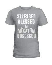 cat obsessed Ladies T-Shirt thumbnail