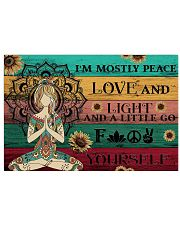 Yoga Peace Love And Light 36x24 Poster front