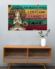 Yoga Peace Love And Light 36x24 Poster poster-landscape-36x24-lifestyle-21