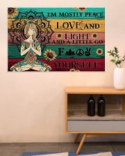 Yoga Peace Love And Light 36x24 Poster poster-landscape-36x24-lifestyle-22