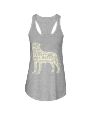 Life is better with bull mastiffs around Ladies Flowy Tank tile