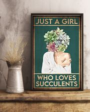 Garden Just A Girl Who Loves Succulents 16x24 Poster lifestyle-poster-3