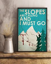 Skiing The Slopes Are Calling 16x24 Poster lifestyle-poster-3