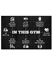 Fitness In This Gym 36x24 Poster front