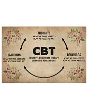 Mental Cognitive Behavioral Therapy 36x24 Poster front