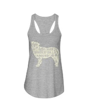 Life is better with boder collies around Ladies Flowy Tank tile