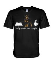 Rottweiler V-Neck T-Shirt tile
