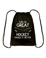Life is great Drawstring Bag tile