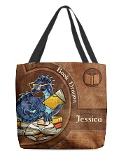 Book Dragon Print All-over Tote front