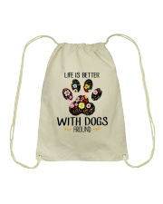 Dog Life Is Better - Hoodie And T-shirt Drawstring Bag thumbnail